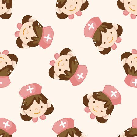 nurse cartoon: nurse , cartoon seamless pattern background