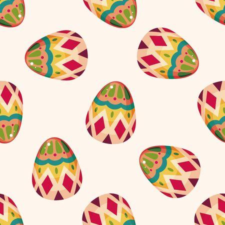 egg cartoon: huevo de Pascua, dibujos animados patr�n de fondo sin fisuras