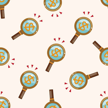 financial symbol: financial symbol , cartoon seamless pattern background