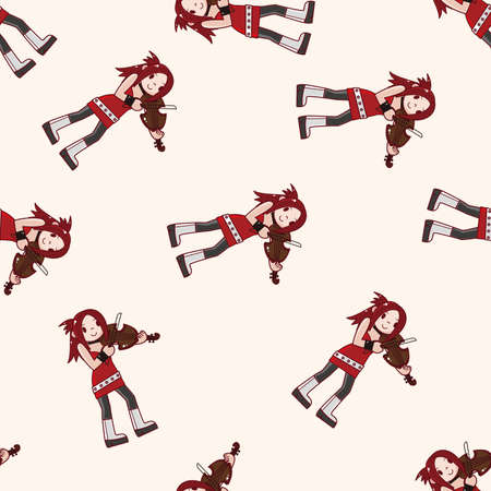 violinist: character musician violinist , cartoon seamless pattern background