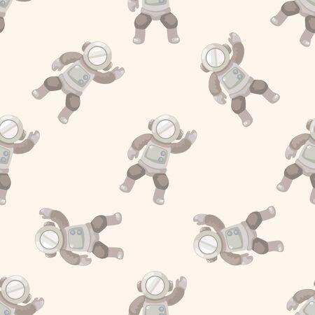 spaceman: spaceman , cartoon seamless pattern background