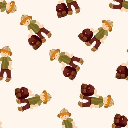 explorer: explorer , cartoon seamless pattern background