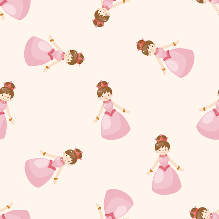 princess castle: Royal theme princess , cartoon seamless pattern background Stock Photo