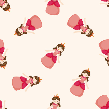 fairy tale princess: Royal theme princess , cartoon seamless pattern background Stock Photo