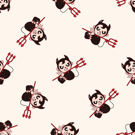 sexy angel: devil , cartoon seamless pattern background