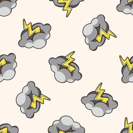 rainy season: weather rainy day , cartoon seamless pattern background
