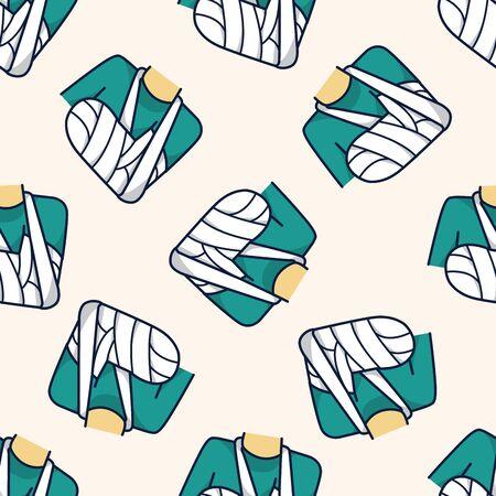 bandage , cartoon seamless pattern background