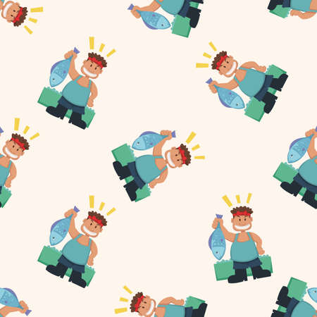 fisher: people theme fisher , cartoon seamless pattern background