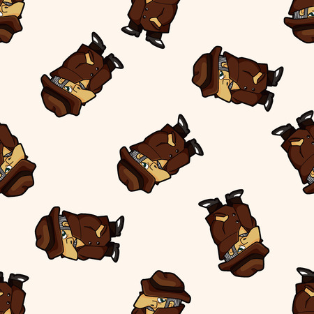 mobster: mafia , cartoon seamless pattern background