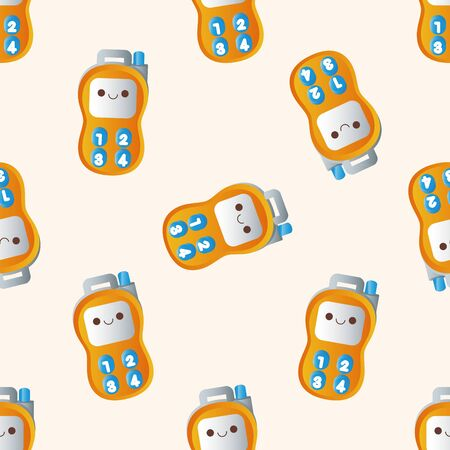 walkie: baby toy walkie , cartoon seamless pattern background