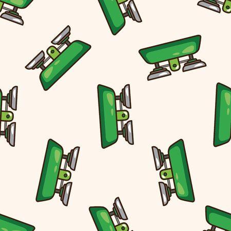 balanza de laboratorio: Balanzas de laboratorio, de dibujos animados patrón de fondo sin fisuras