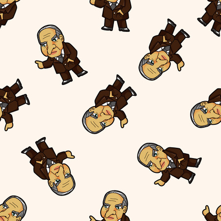 mobster: mafia , cartoon seamless pattern background
