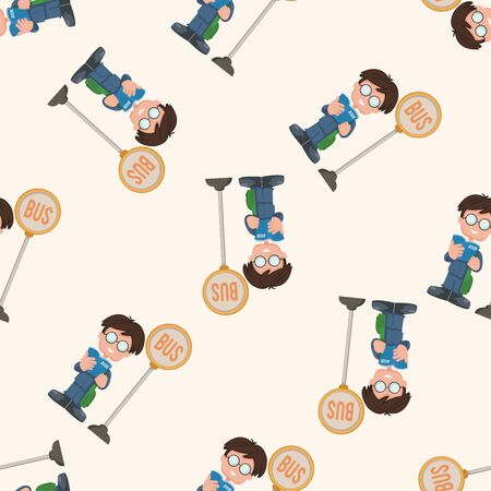 student , cartoon seamless pattern background