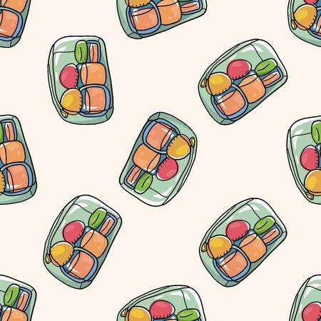 packaging equipment: wash bottle for traveling , cartoon seamless pattern background Illustration