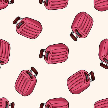 bag cartoon: travel bag , cartoon seamless pattern background