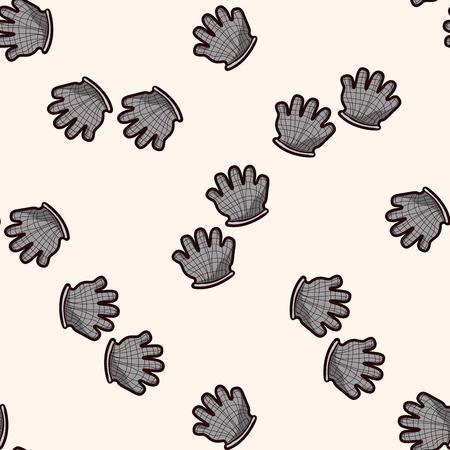working gloves: Working gloves , cartoon seamless pattern background