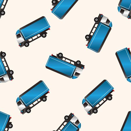 car carrier: truck , cartoon seamless pattern background