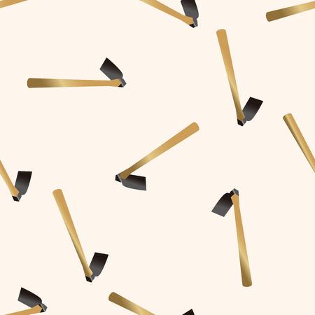 hand trowels: gardening shovel , cartoon seamless pattern background Illustration
