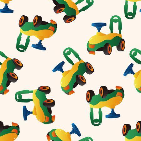 walker: Baby walker , cartoon seamless pattern background