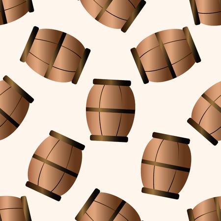 cask: farm cask , cartoon seamless pattern background