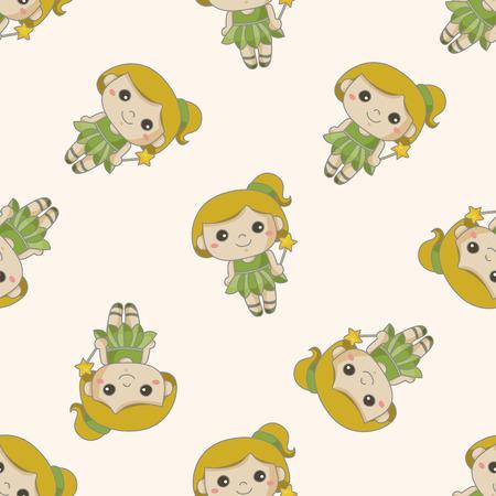genie woman: fairytale princess , cartoon seamless pattern background