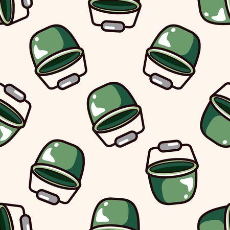 cartoon wood bucket: water bucket , cartoon seamless pattern background Illustration
