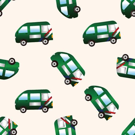 Przewóz tematem Poczta samochodu, animowany bezszwowe tło wzór