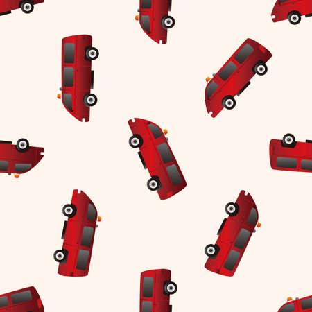 firetruck: transportation theme firetruck , cartoon seamless pattern background Illustration