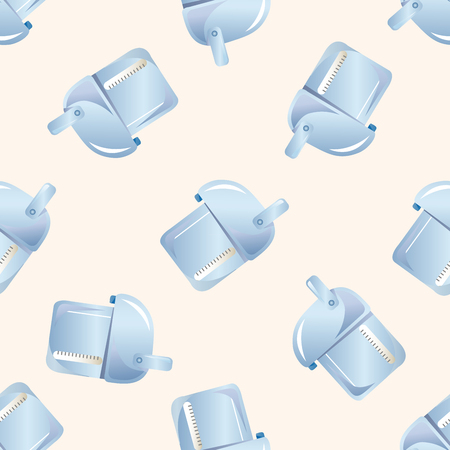 electric tea kettle: Home appliances theme,ectric thermos , cartoon seamless pattern background