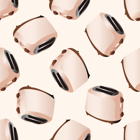 bread maker: Home appliances theme toaster , cartoon seamless pattern background Illustration