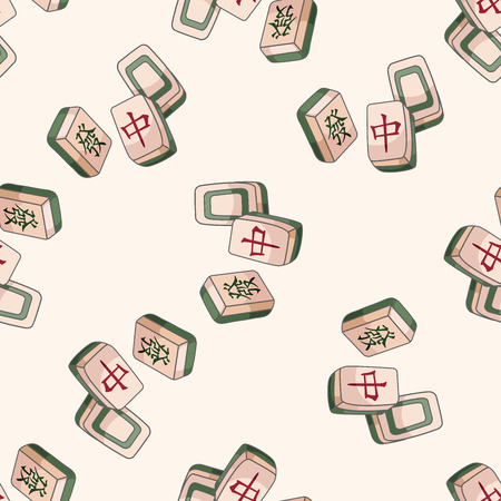 Mahjong , cartoon seamless pattern background