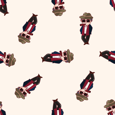 mafia: mafia , cartoon seamless pattern background