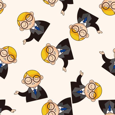 tribunal: prosecutor , cartoon seamless pattern background