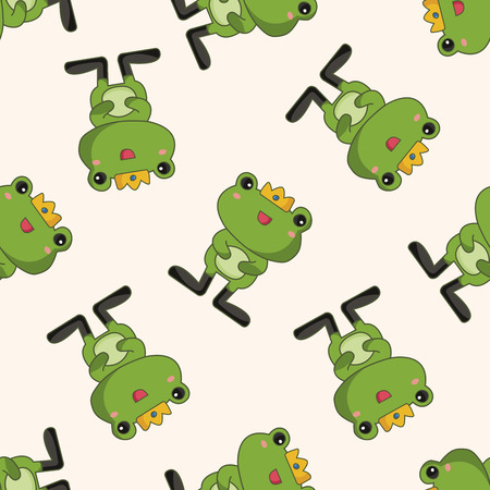 frog prince: frog prince , cartoon seamless pattern background