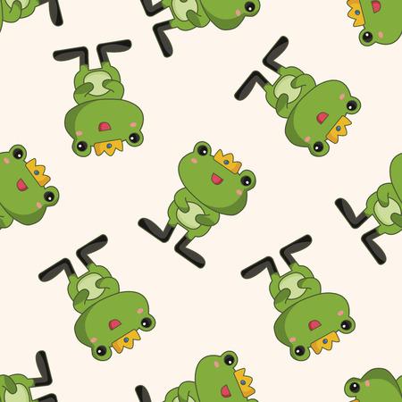rana principe: príncipe de la rana, de dibujos animados patrón de fondo sin fisuras