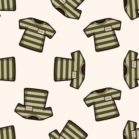 inmate: prison garb , cartoon seamless pattern background Illustration