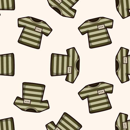 lawbreaker: prison garb , cartoon seamless pattern background Illustration