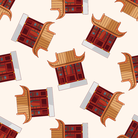 Chinese building , cartoon sticker icon Vector