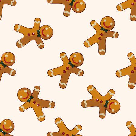 Gingerbread man , cartoon sticker icon Illustration