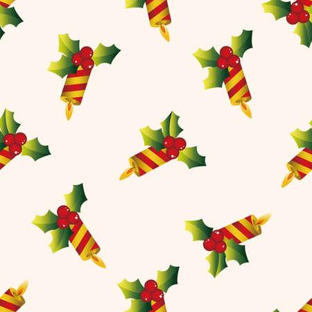 advent wreath: Christmas candle , cartoon sticker icon