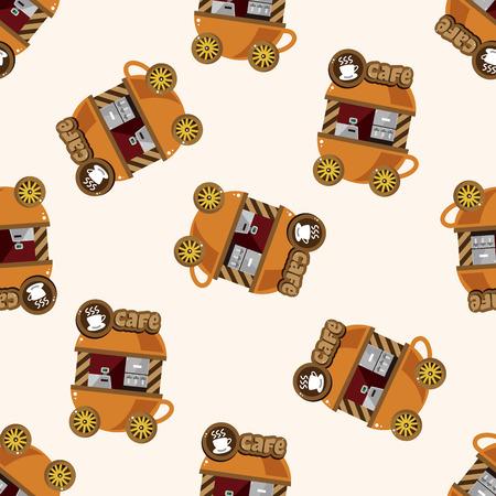style dining car , cartoon sticker icon Vector