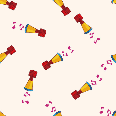 birthday horn , cartoon sticker icon Vector