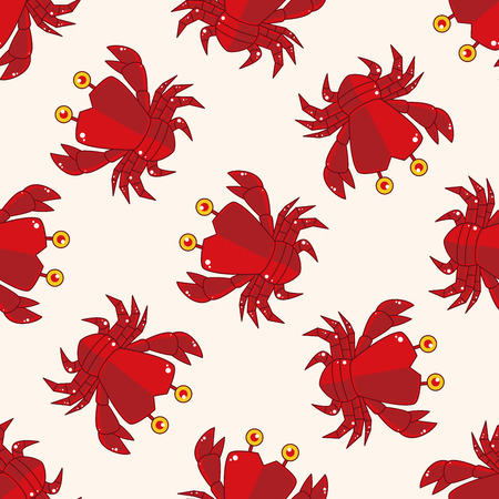 crab cartoon: crab , cartoon sticker icon Illustration