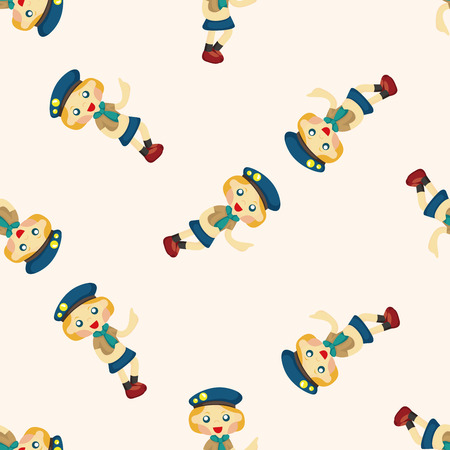 scouting: scout ,seamless pattern