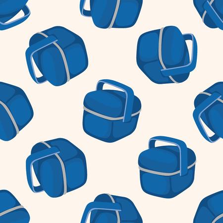 tackle box: fishing box ,seamless pattern