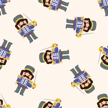 soldiers: Toy Soldiers ,seamless pattern Illustration
