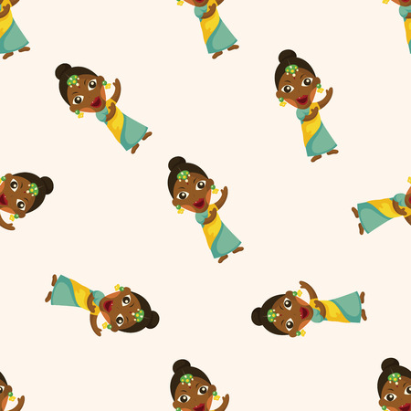 indian people ,seamless pattern