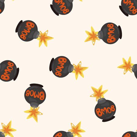 nuclear weapon: bomb ,seamless pattern
