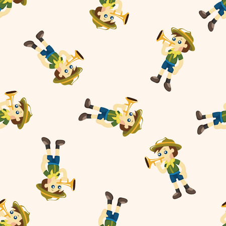 scout: scout ,seamless pattern