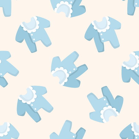 cute baby girls: Baby clothes ,seamless pattern Illustration